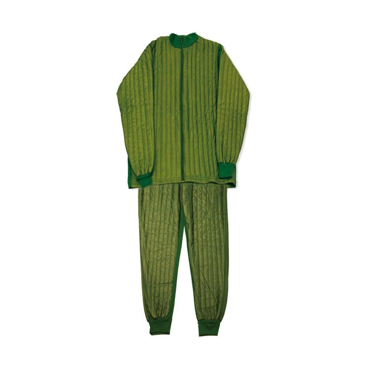 Giacca e Pantalone Termico Verde da Pelle