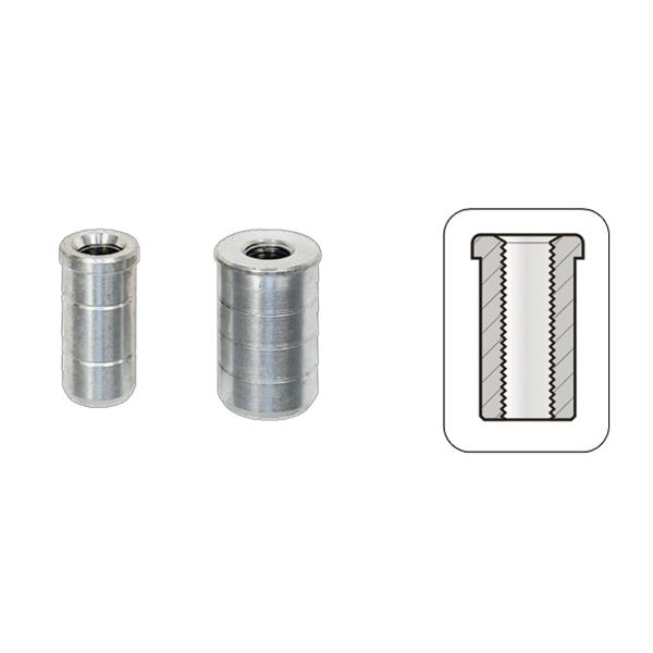 Boccole Filettate Alluminio Interne