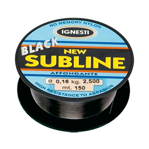 Monofilo Affondante New Subline Black 150 mt