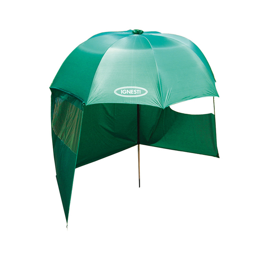 Ombrellone Pesca in Nylon Verde con Tenda Staccabile 220 cm