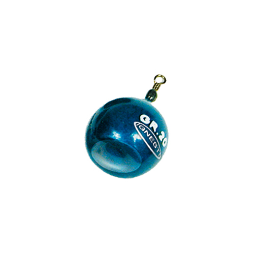 Piombo Sfera Plastificato Blu con Girella