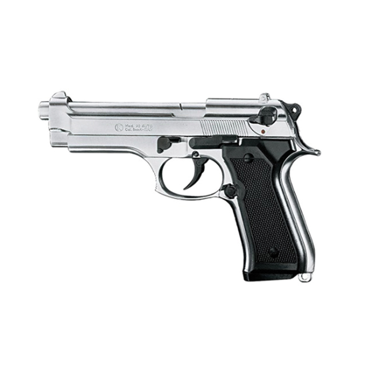 Pistola Semiautomatica a Salve BER92 Colore Nichel Calibro 8