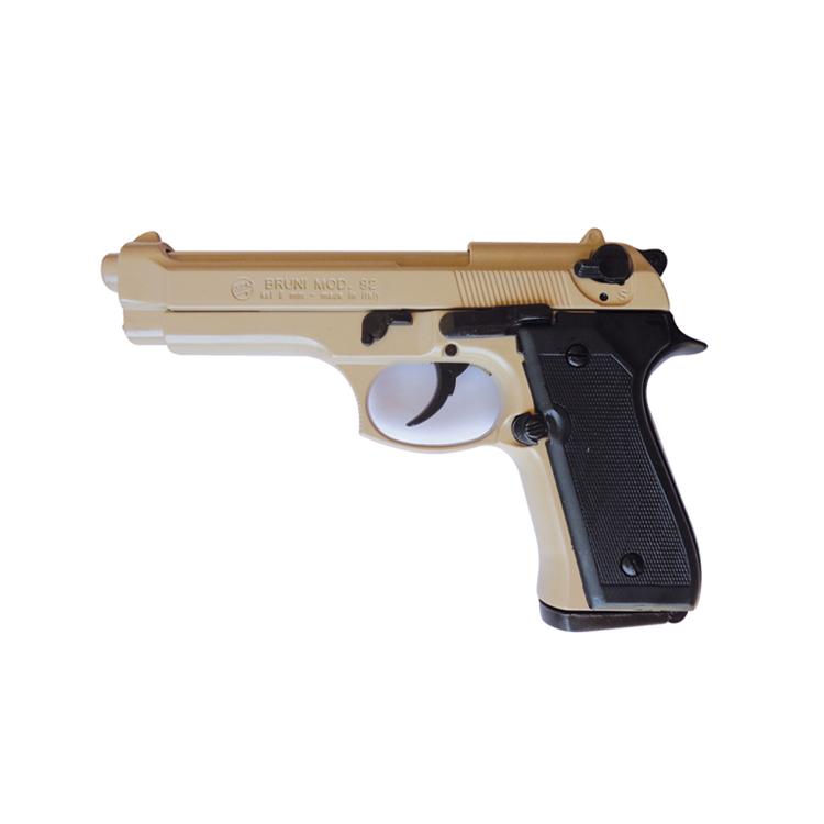 Pistola Semiautomatica a Salve BER92 Colore Sabbia Calibro 8