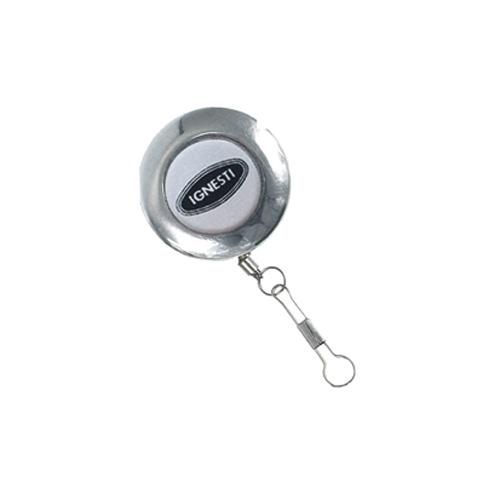Ciondolo Rettrattile con Spillo Lux Ø 40 mm