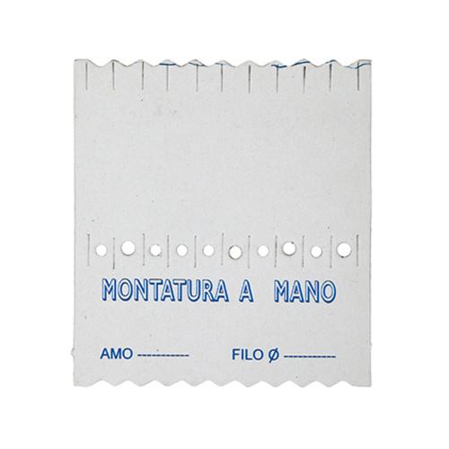 Avvolgilenza Cartoncino Bianco per 10 Ami Legati