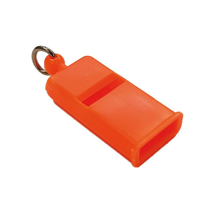 Fischio in Plastica Piatto arancio fluò