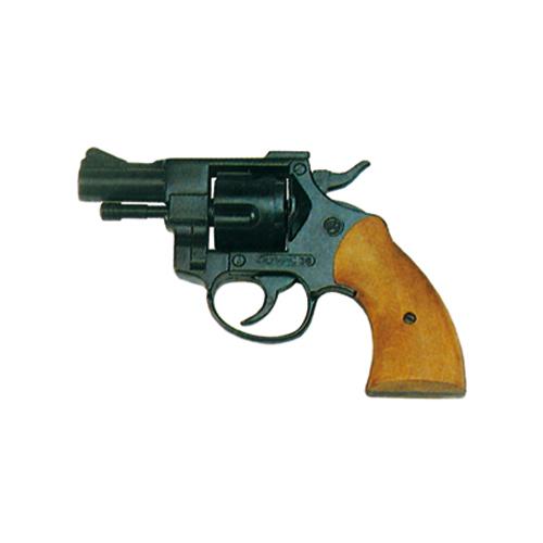 Pistola Revolver a Salve con Woden Grip Olimpyc  Calibro 380
