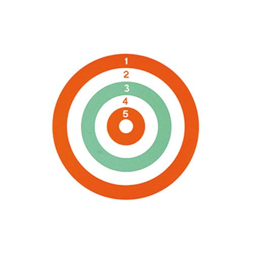 Bersaglio Tricolore 14 x 14 cm